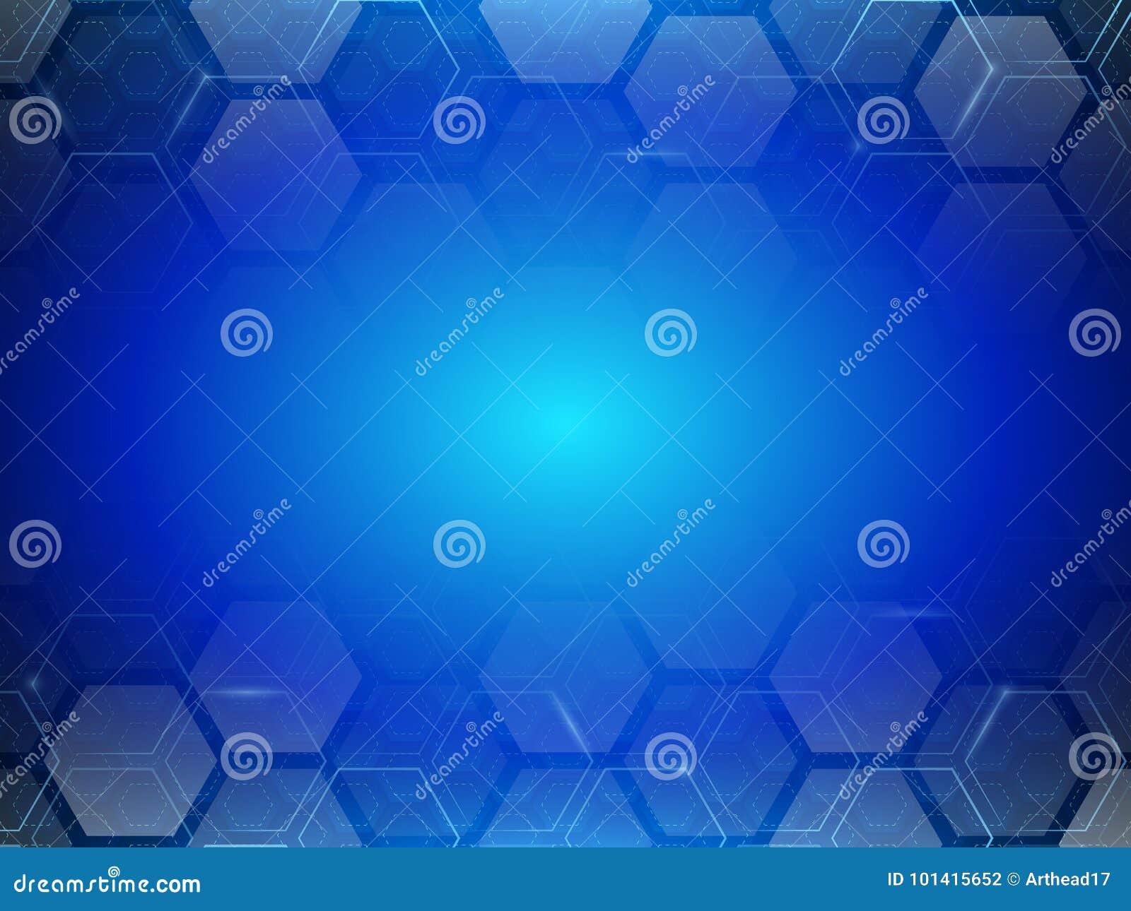 Minimalismo futurista de Digitaces Fondo abstracto del hexágono de la tecnología
