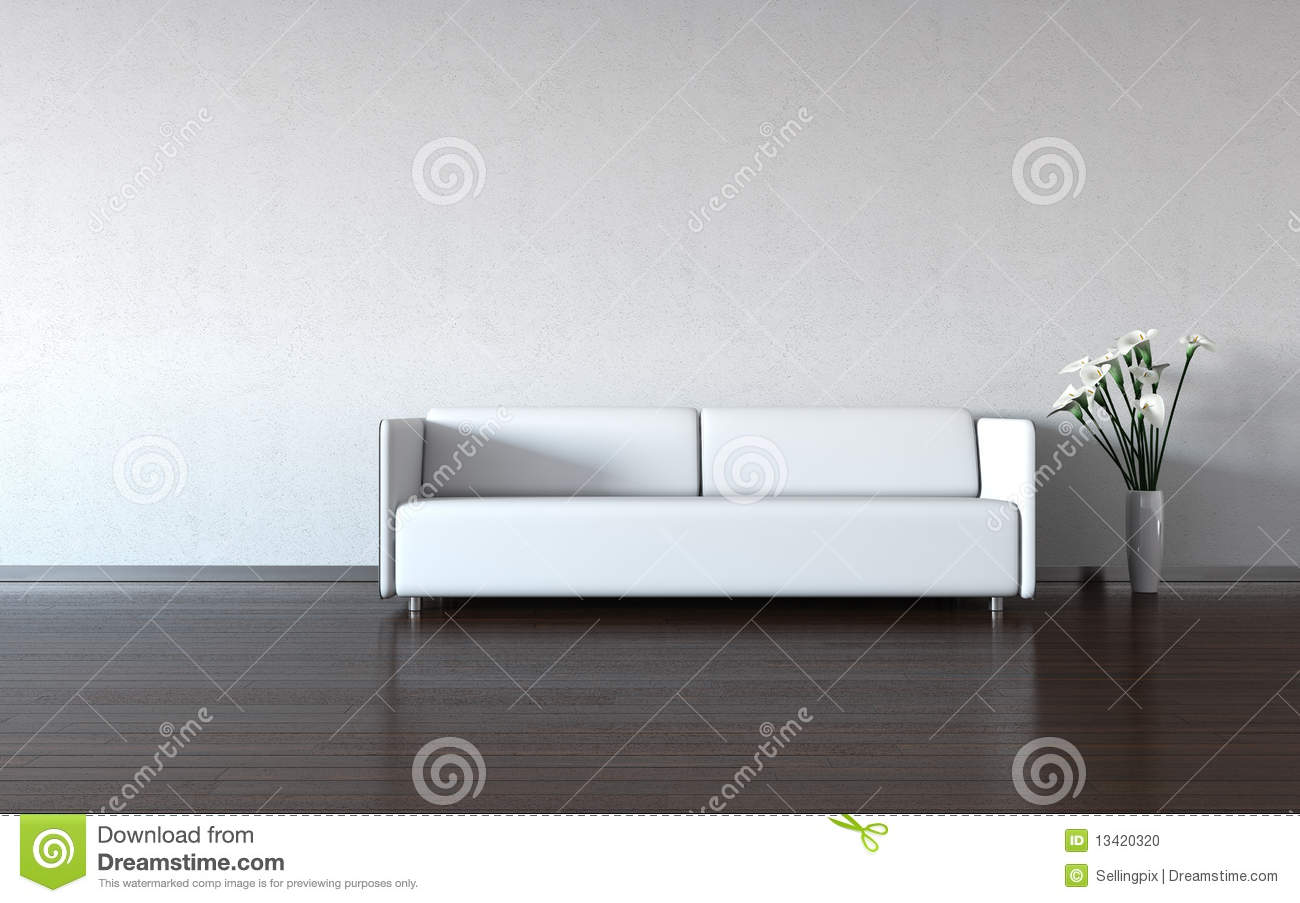 minimalismus wei e couch und vase durch die wand. Black Bedroom Furniture Sets. Home Design Ideas