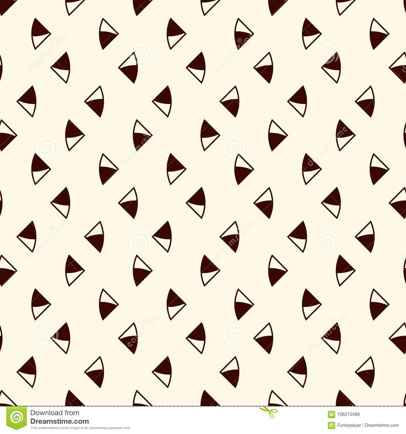Minimalist abstract background. Simple modern print with mini triangles. Seamless pattern with geometric figures