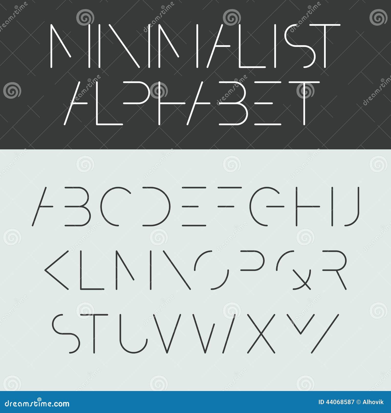 Minimalist Alphabet Stock Vector Image Of Illustration