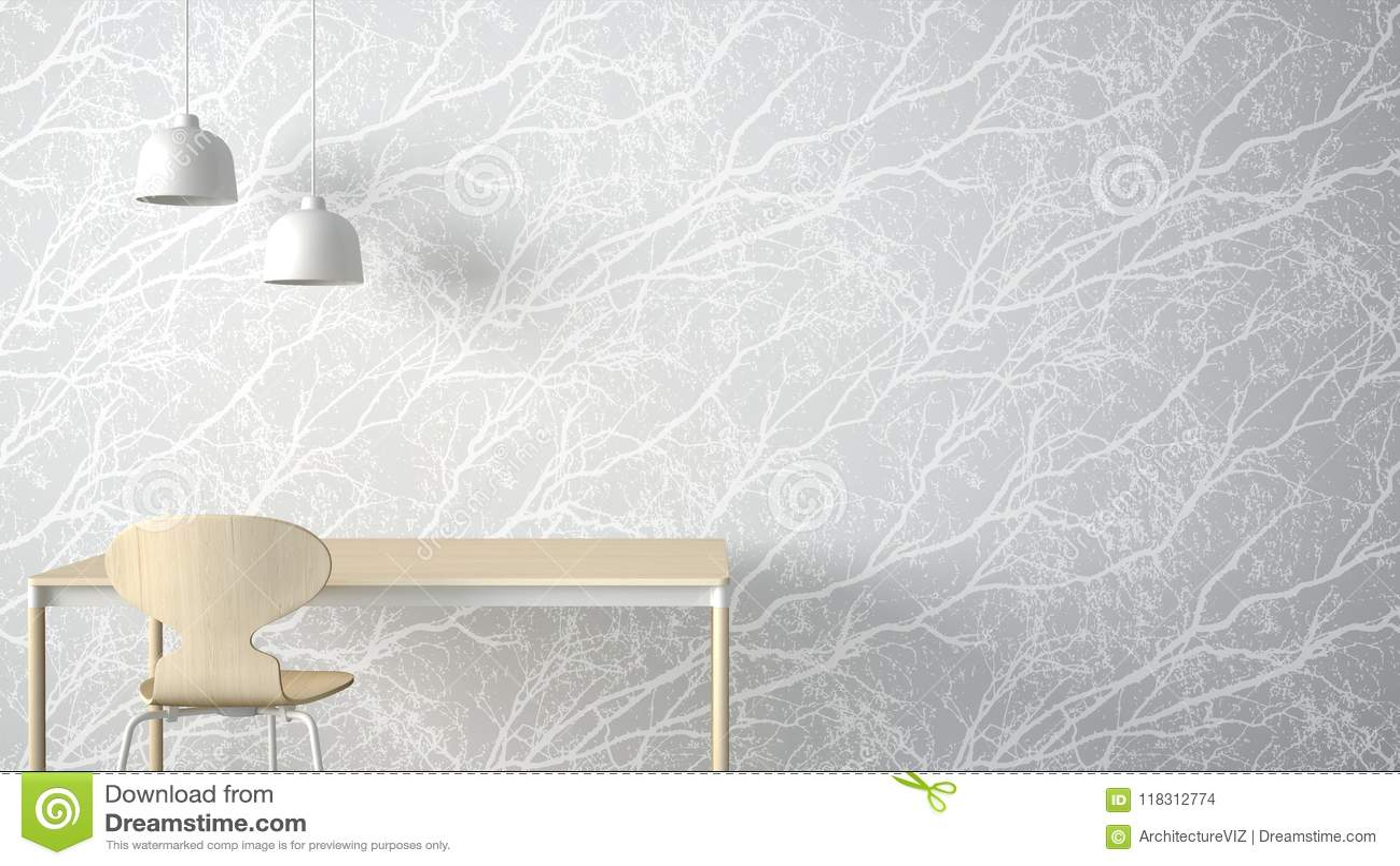 Minimalist Architect Designer Concept, Table Desk And Chair ...