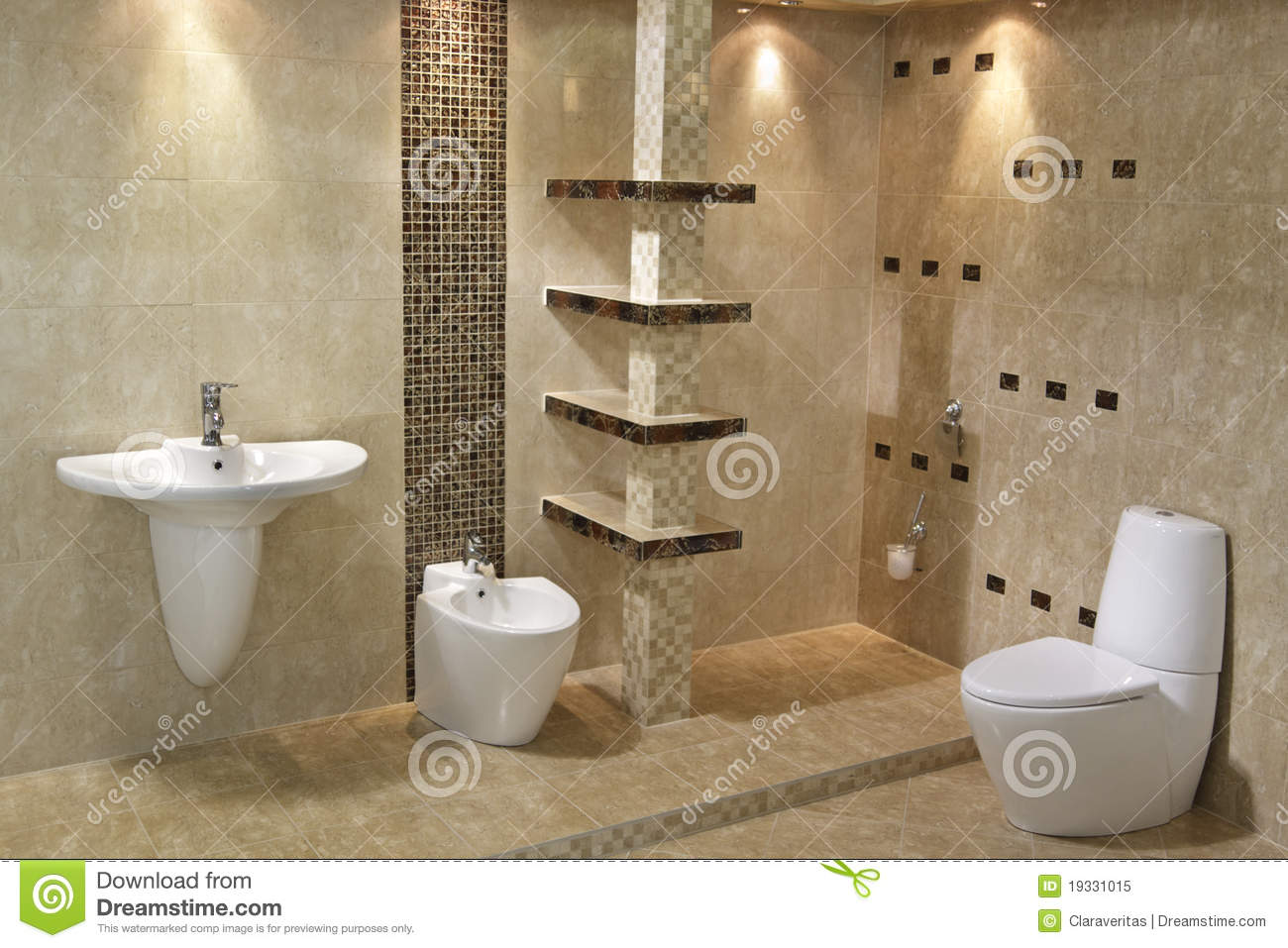 Minimalist Bathroom Interior Minimalist Bathroom Interior Royalty Free Stock Photo Image