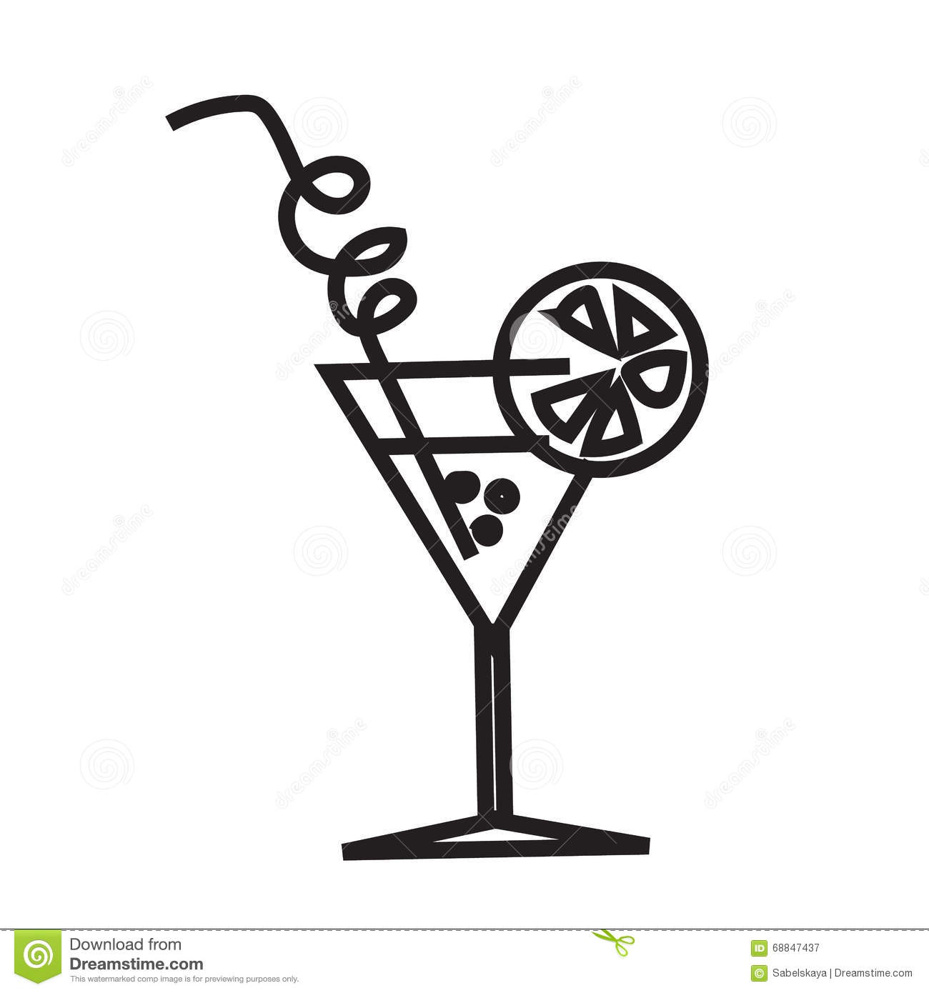 Stock Illustration Minimalist Black Cocktail Image Simple Symbol Line Style White Icon Icon Isolated Art Line Vector Image68847437 on design floor plan symbol for audio