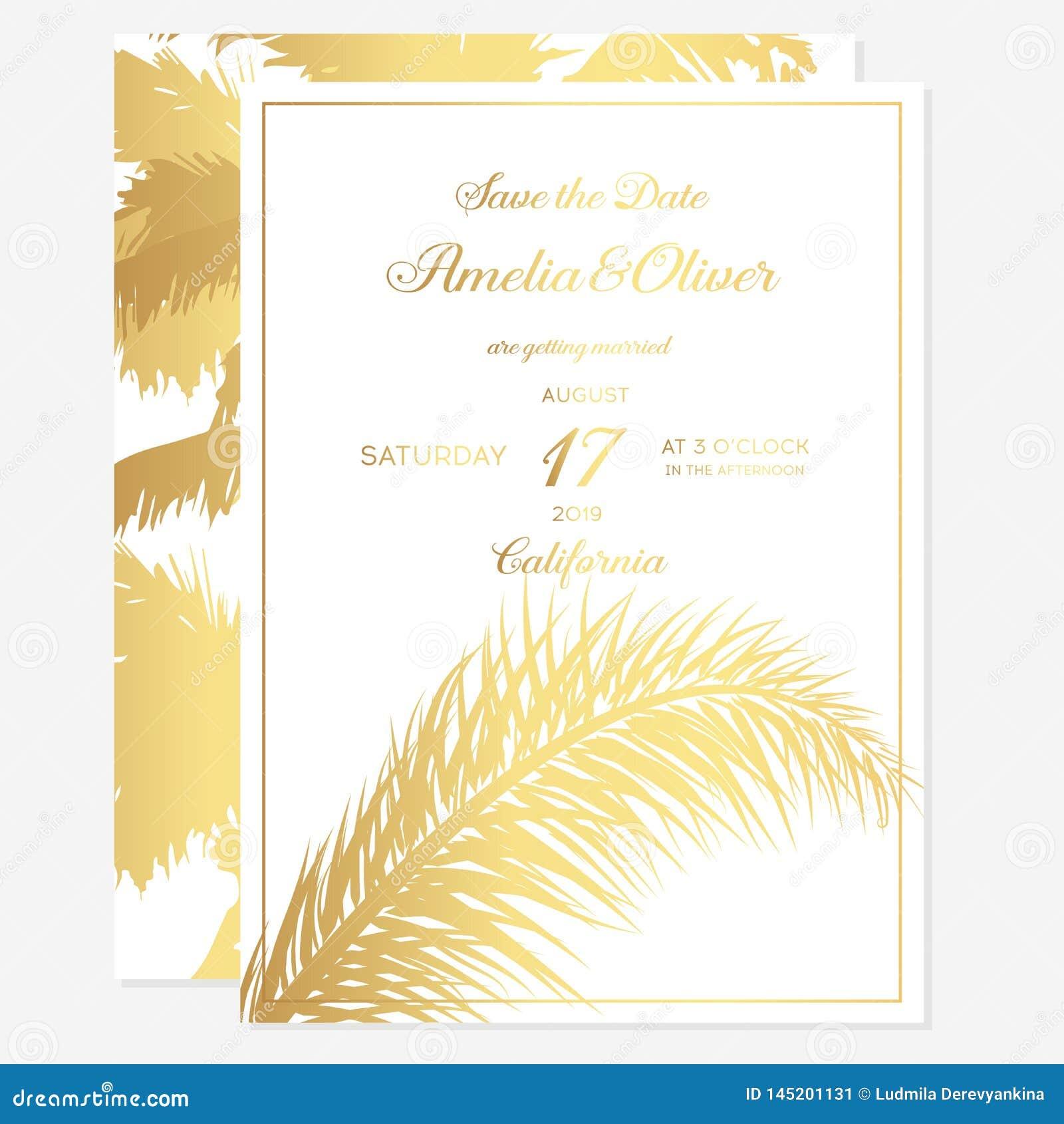 Minimalist Botanical Wedding Invitation Card Template Design Vector Decorative Greeting Card Or Invitation Design Background Stock Illustration Illustration Of Foliage Design 145201131