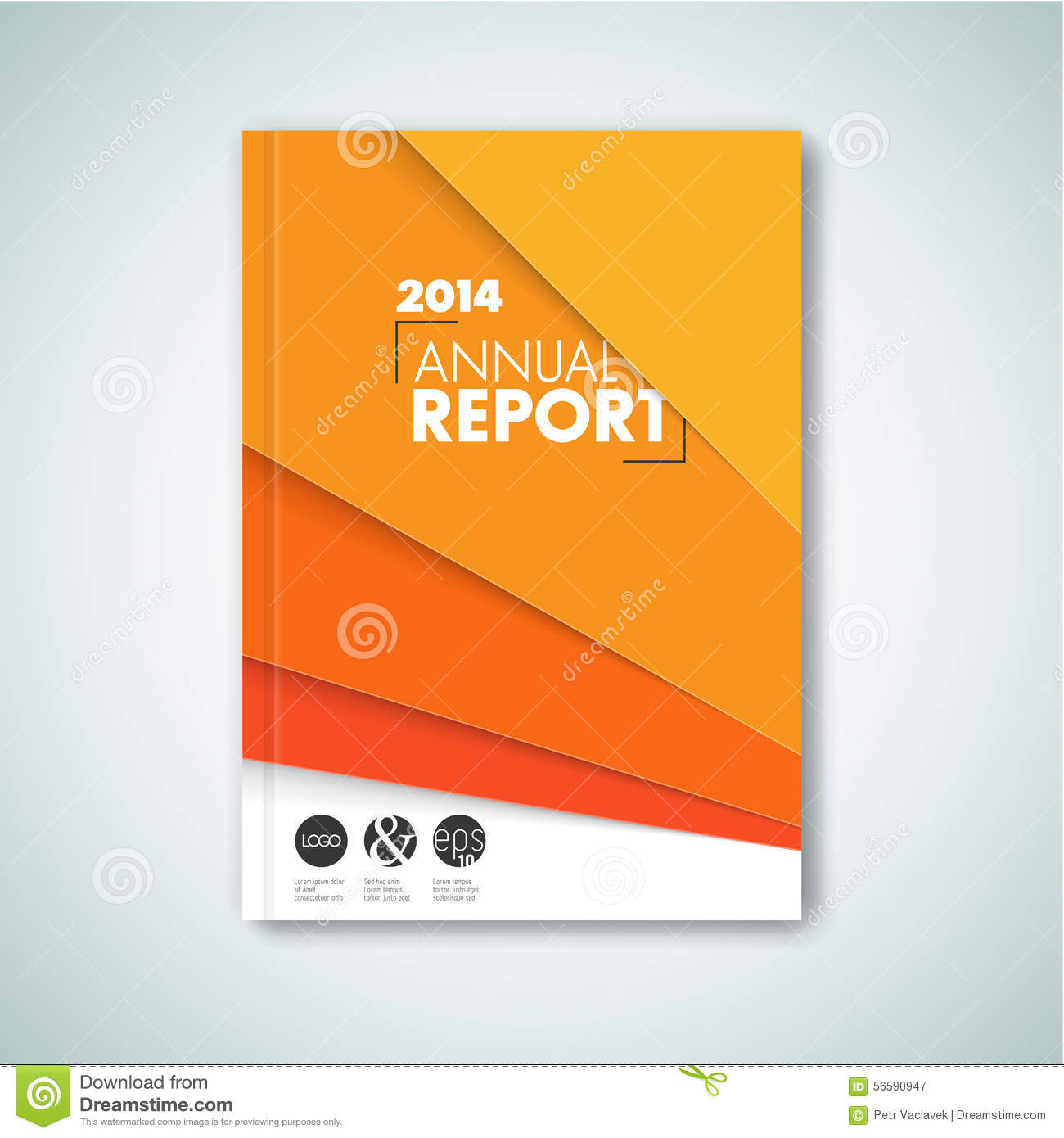Minimalist Brochure Book Flyer Design Template Stock