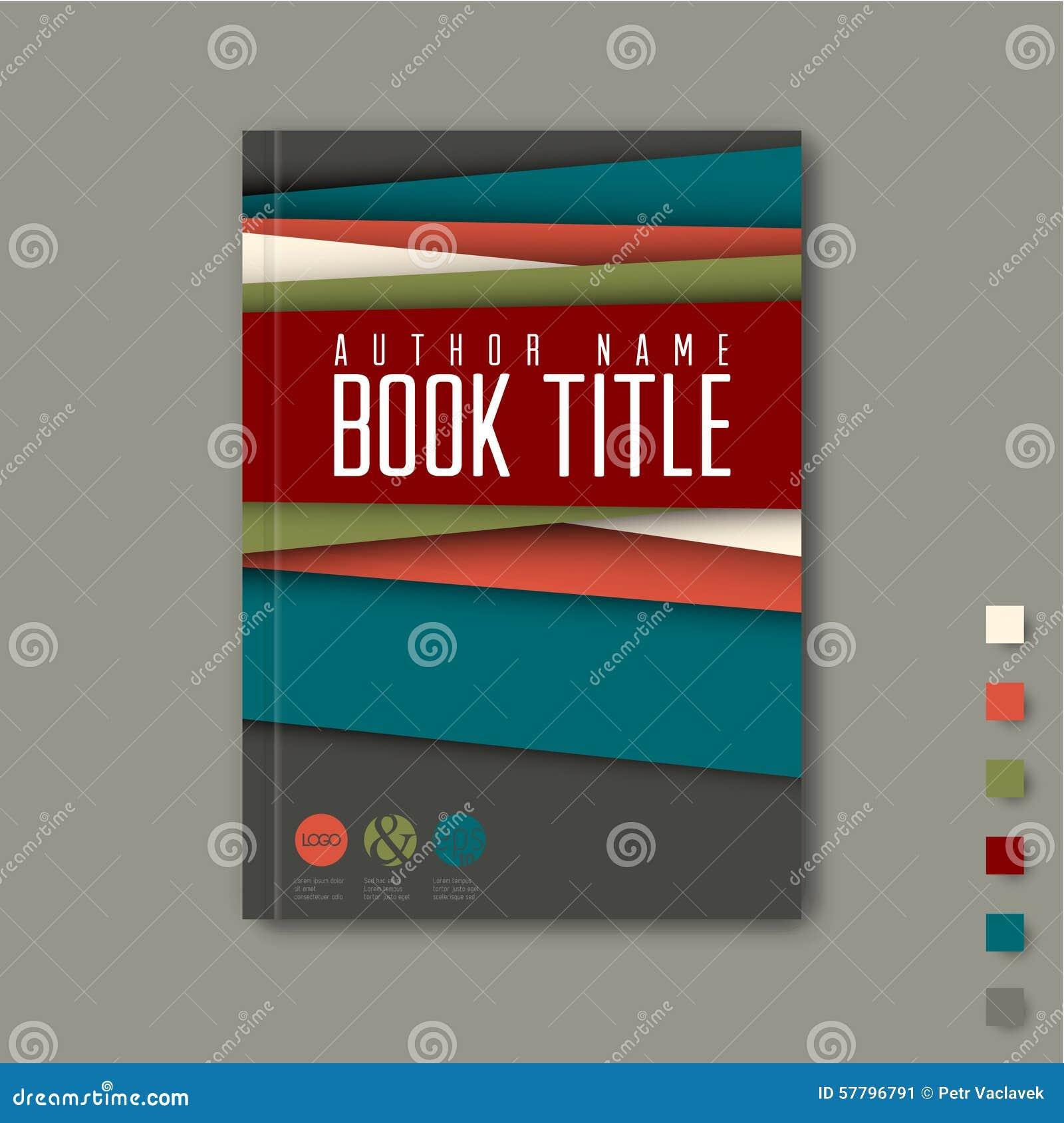minimalist brochure book flyer design template stock