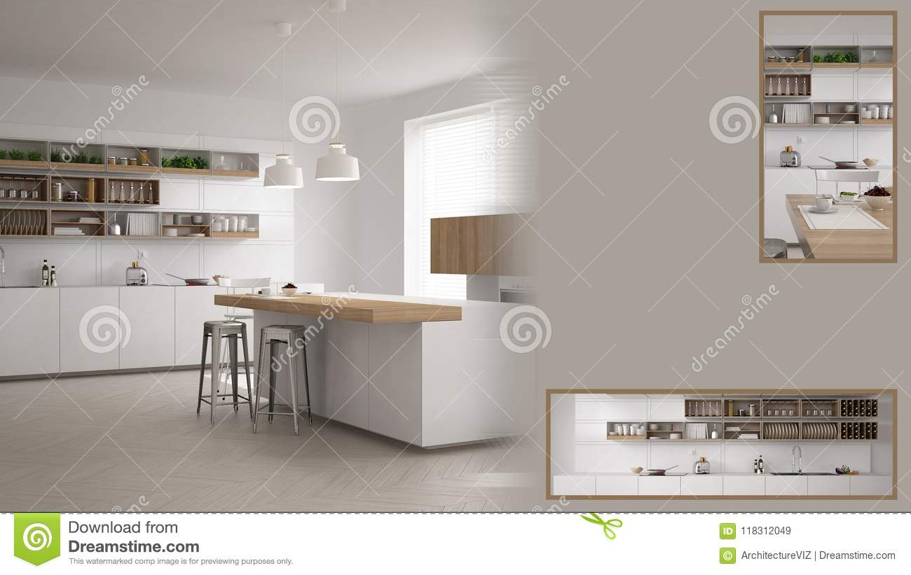 Minimalist Kitchen Presentation With Copy Space And Details Closeup Architect Interior Designer Concept Idea Sample Text Stock Image Image Of Space Copy 118312049