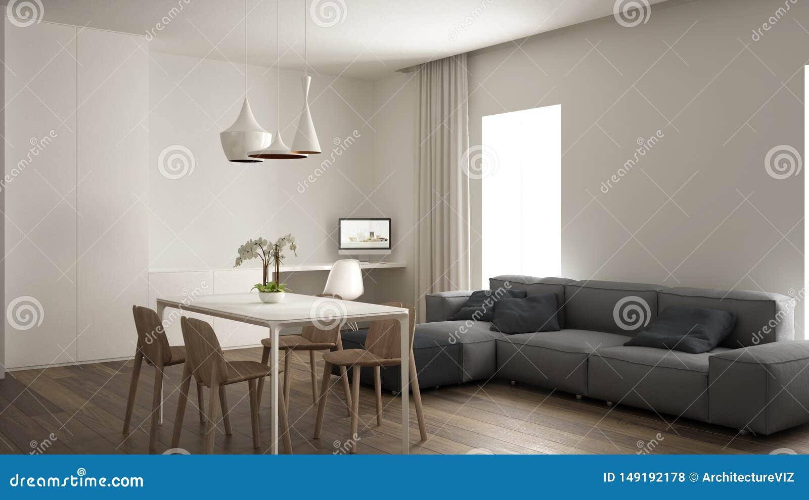 Minimalist Living Room Interior Design Home Working Space