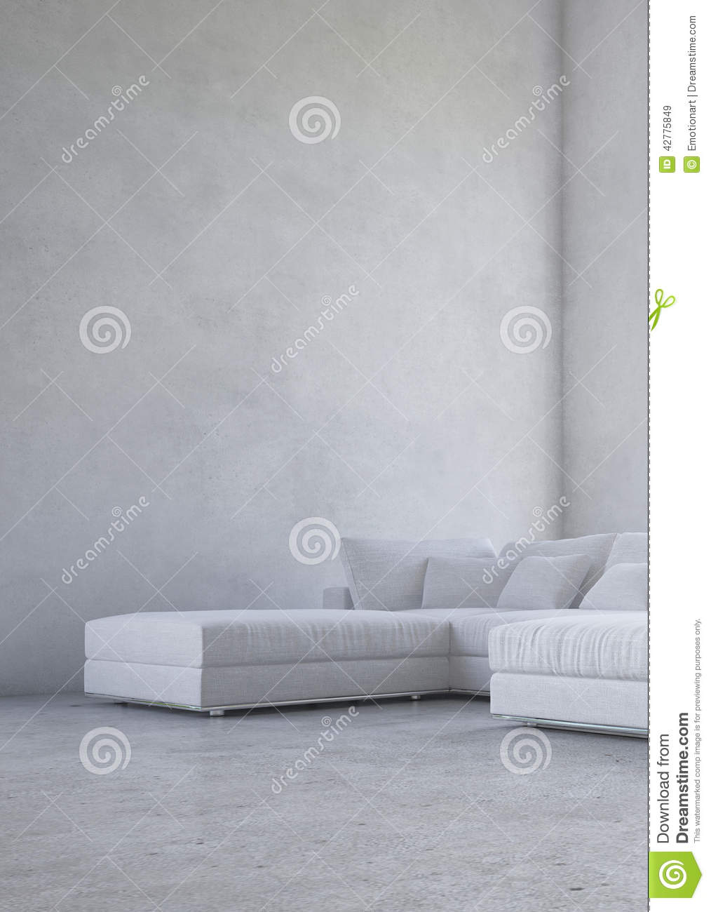 Minimalist Living Room Interior Stock Illustration
