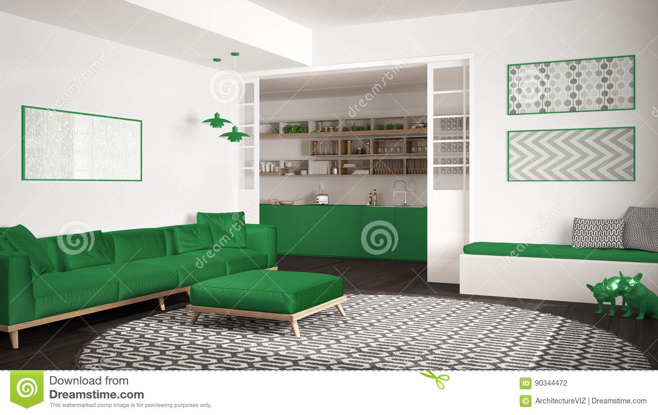 Awesome Minimalist Living Room With Sofa Big Round Carpet And Ncnpc Chair Design For Home Ncnpcorg