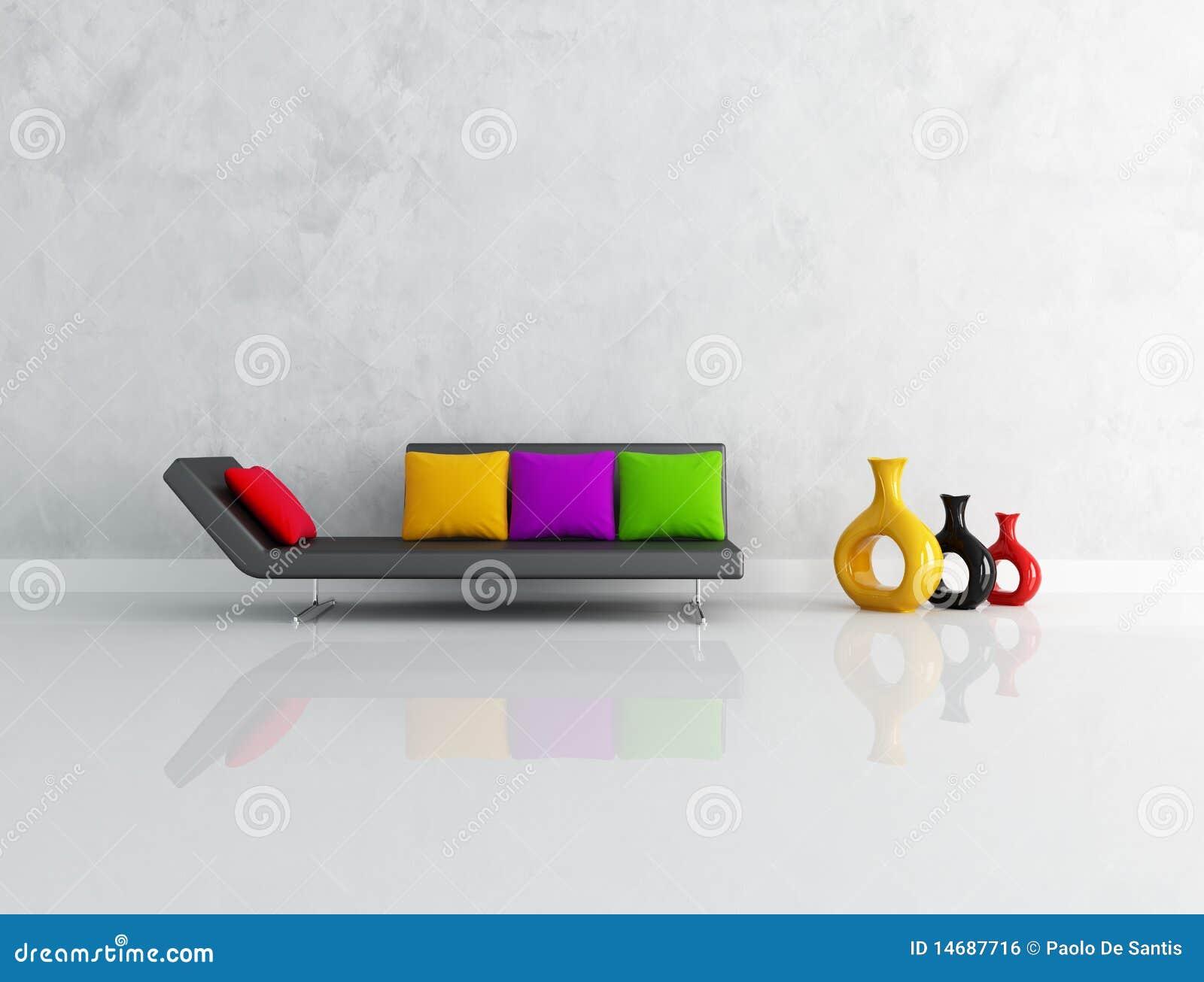 Minimalist Lounge Stock Illustration Image Of Stucco