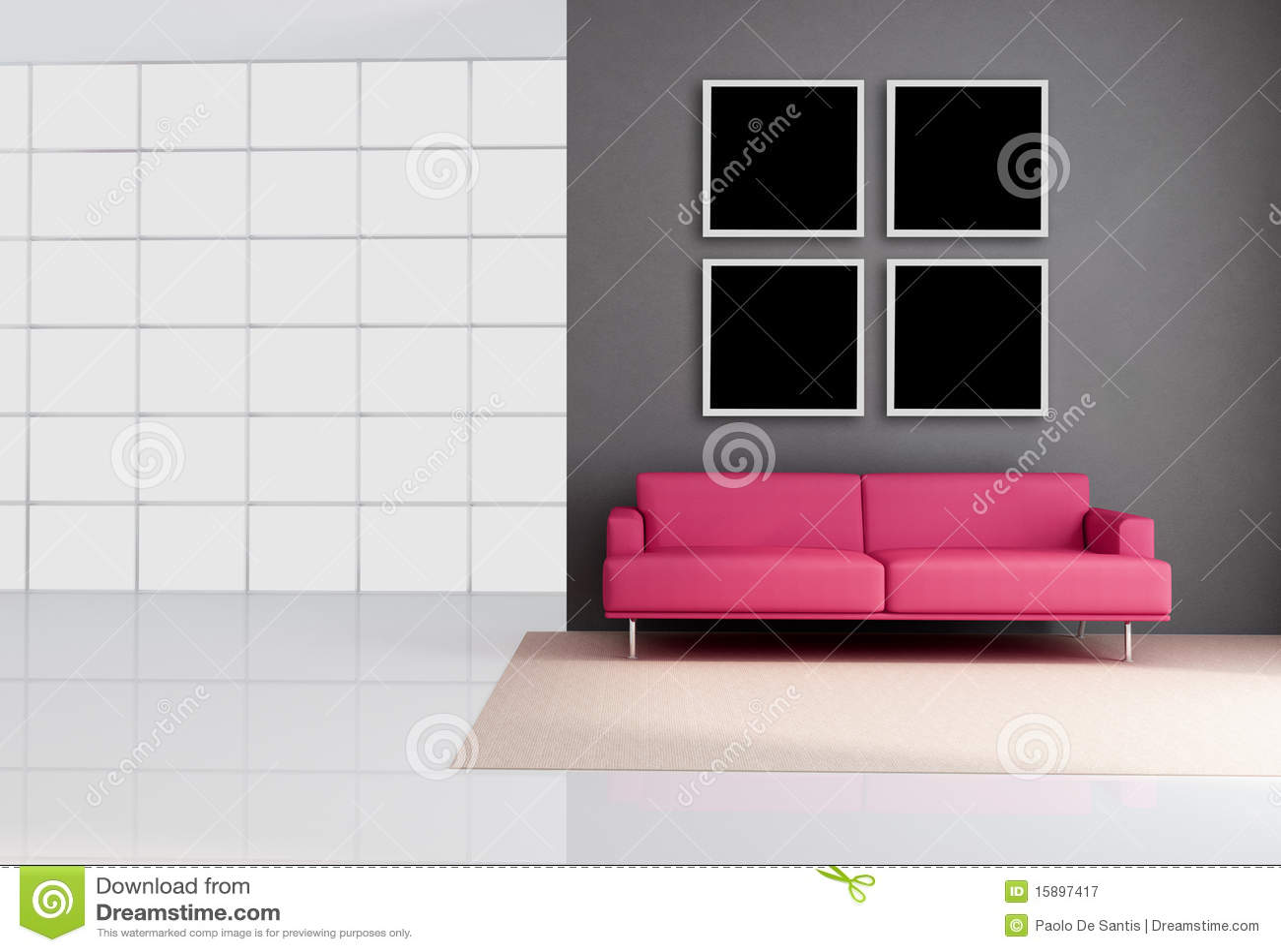 Minimalist Lounge Royalty Free Stock Photography Image