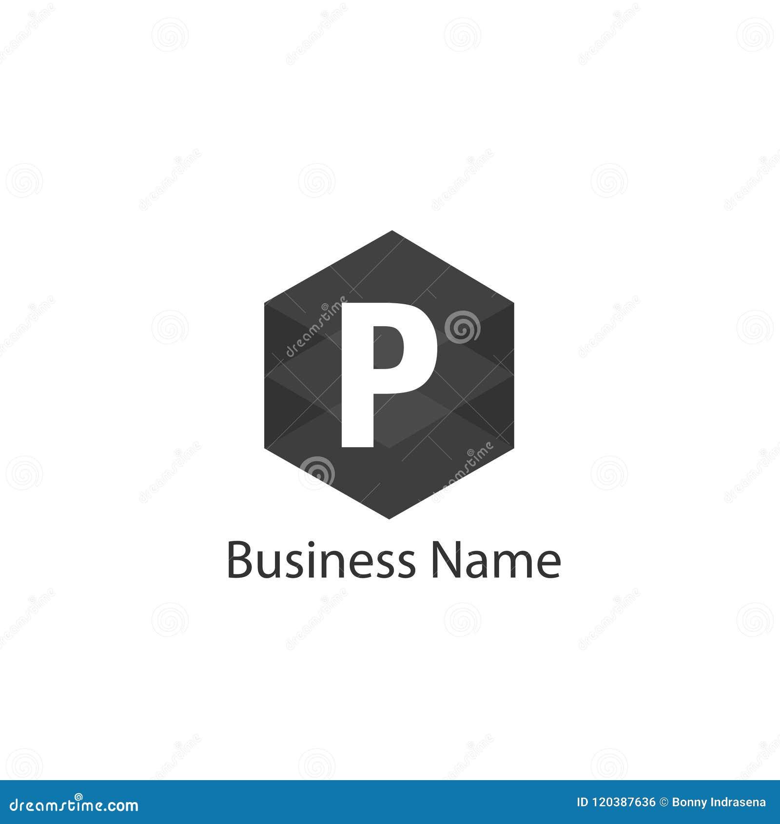letter p logo design stock vector illustration of design 120387636