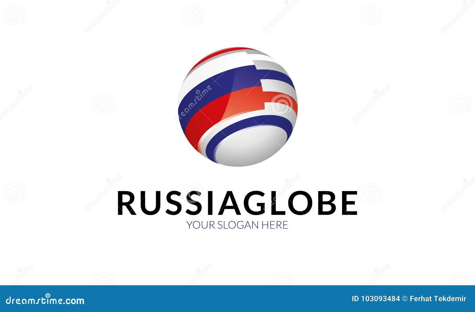 Russia Flag Logo Template Stock Illustration Illustration Of
