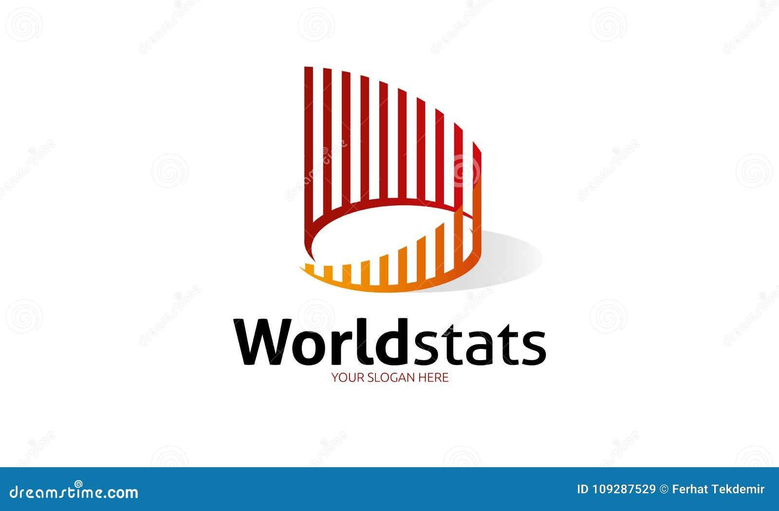 World Stats logo template stock illustration  Illustration