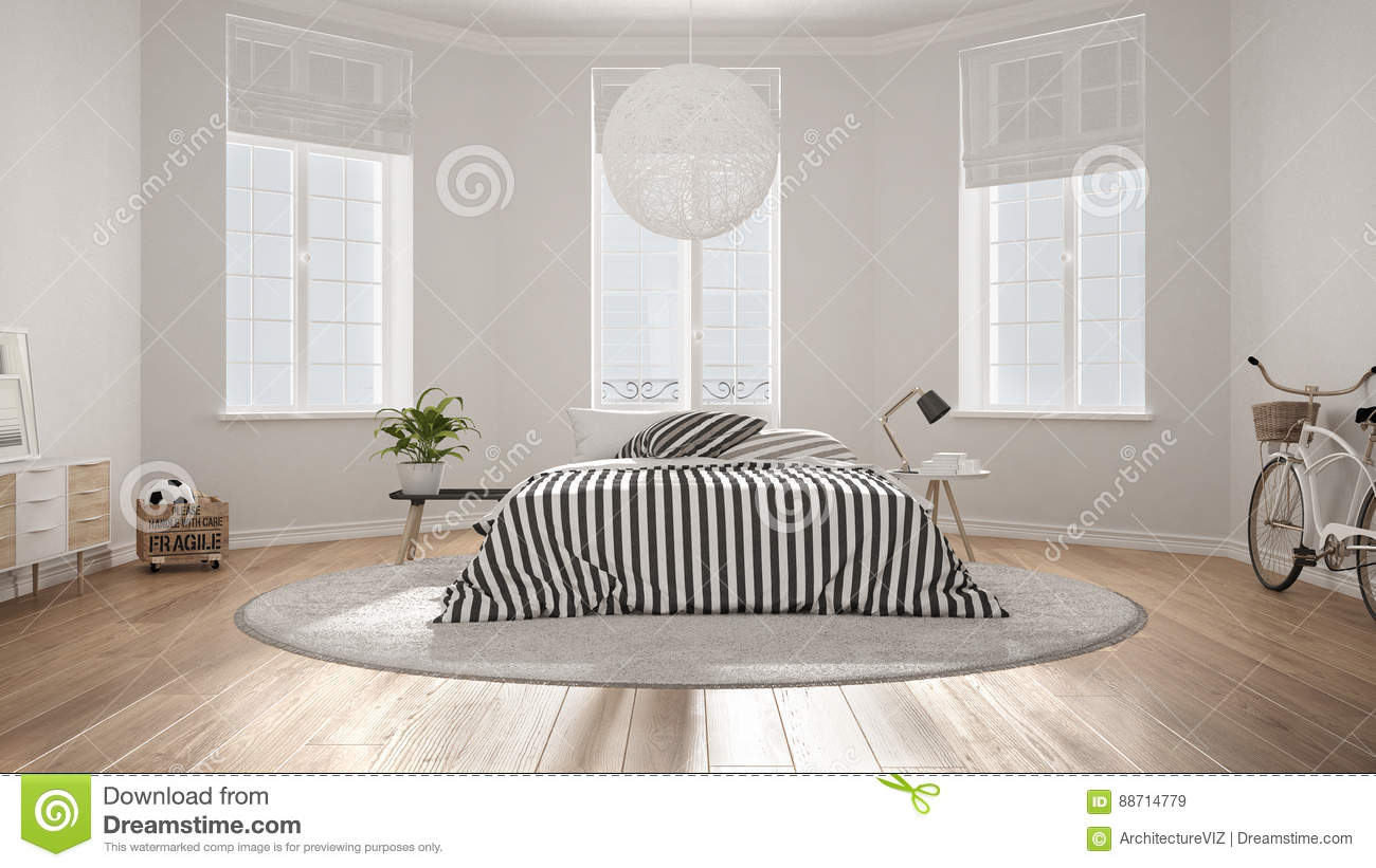 Minimalist nordic white bedroom classic modern interior for Classic minimalist house design