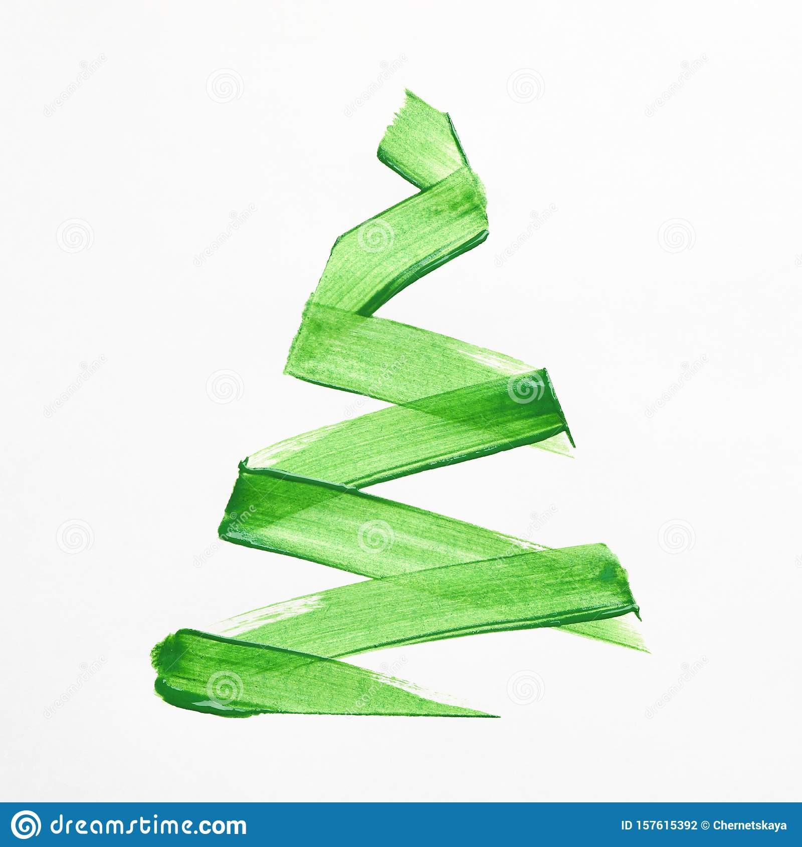 Minimalist Painting Of Christmas Tree On White Stock Photo Image Of Gifts Noel 157615392