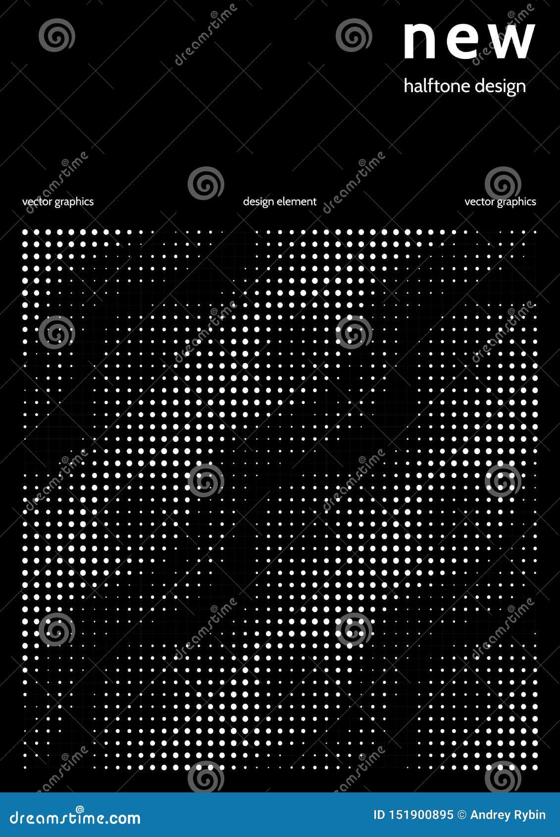 Minimalist räkningsdesign med färghalvton Vektordesign för rapport i minimalist techstil