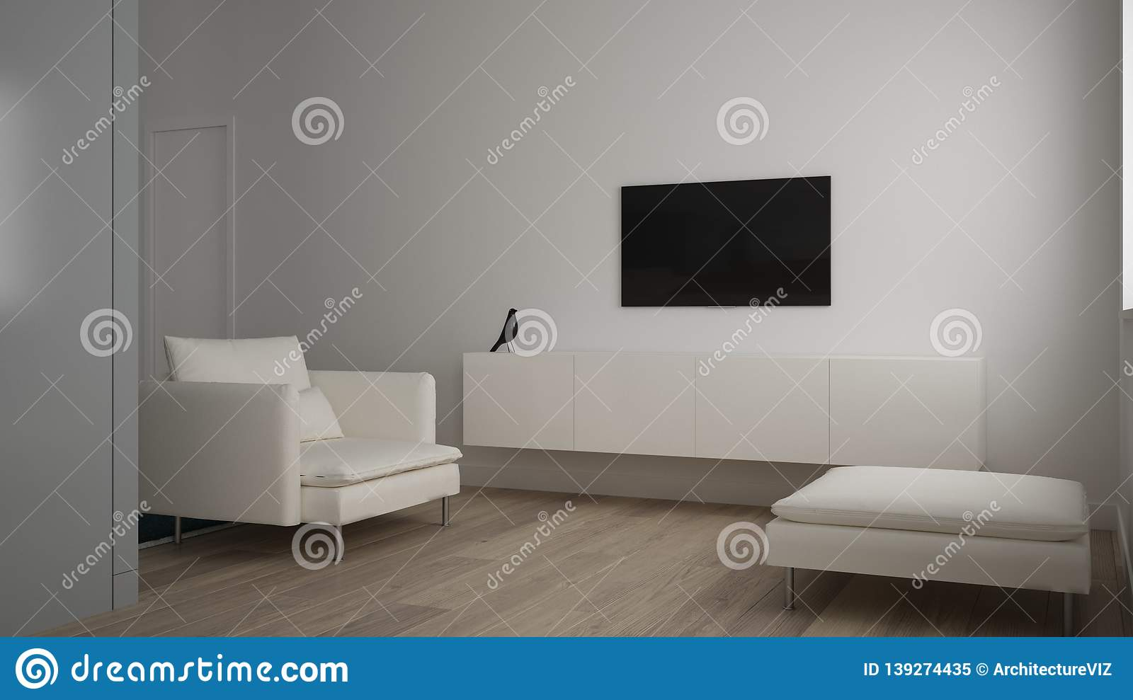 Minimalist Small Living Room In One Bedroom Apartment ...