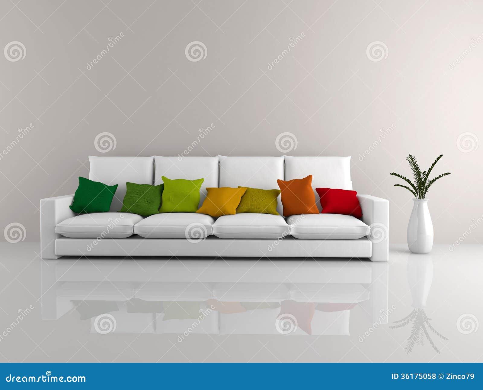 Minimalist Sofa White Royalty Free Stock Photos Image