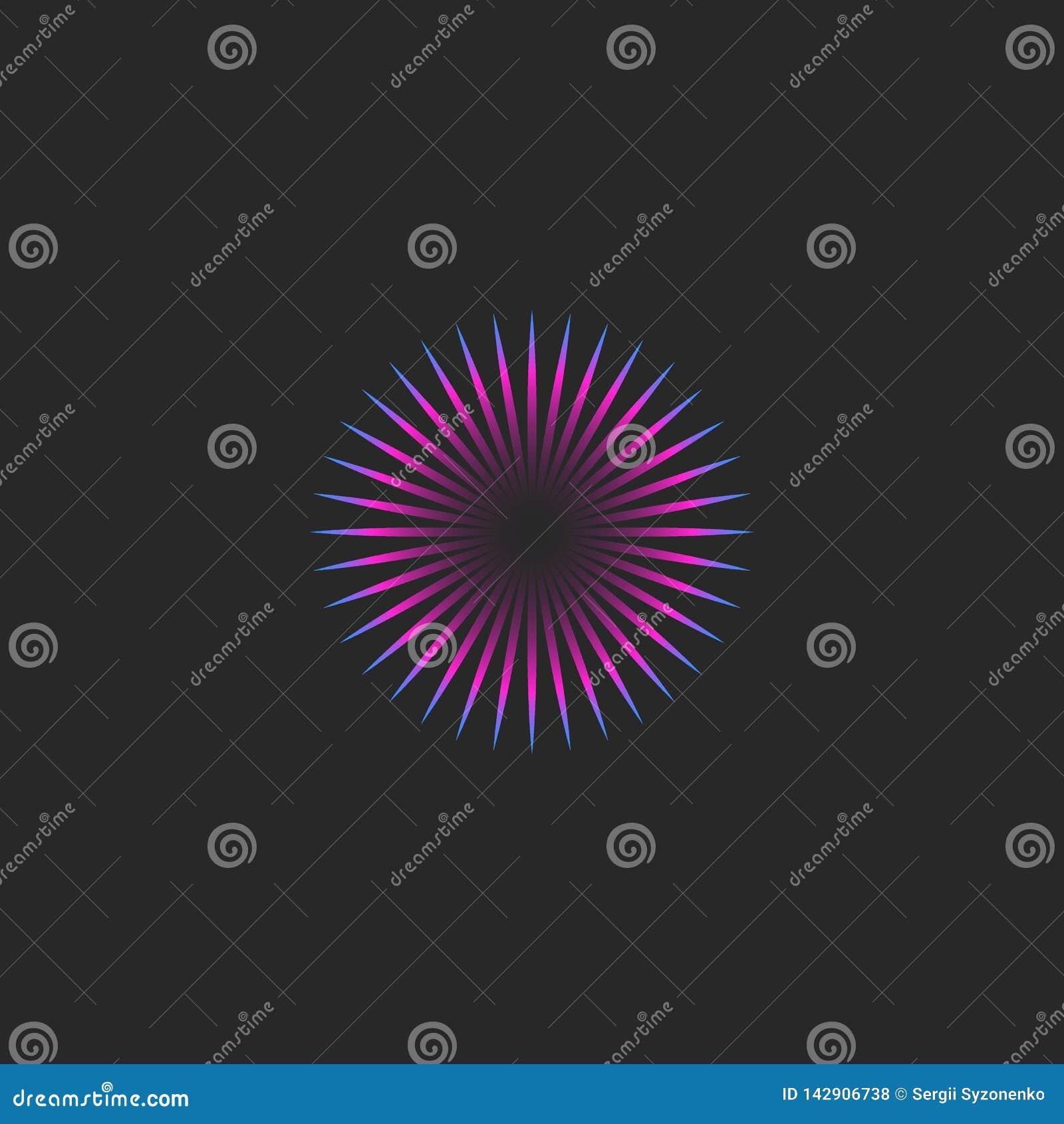 Minimalist Style Logo Round Illusion Fascinating Look Emblem