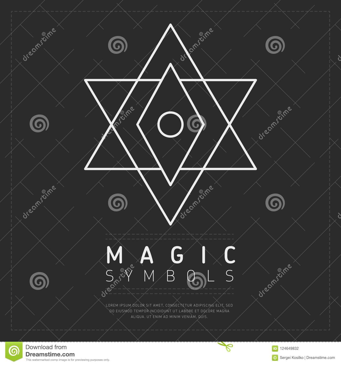 Occult White Geometric Symbol Stock Illustration Illustration Of