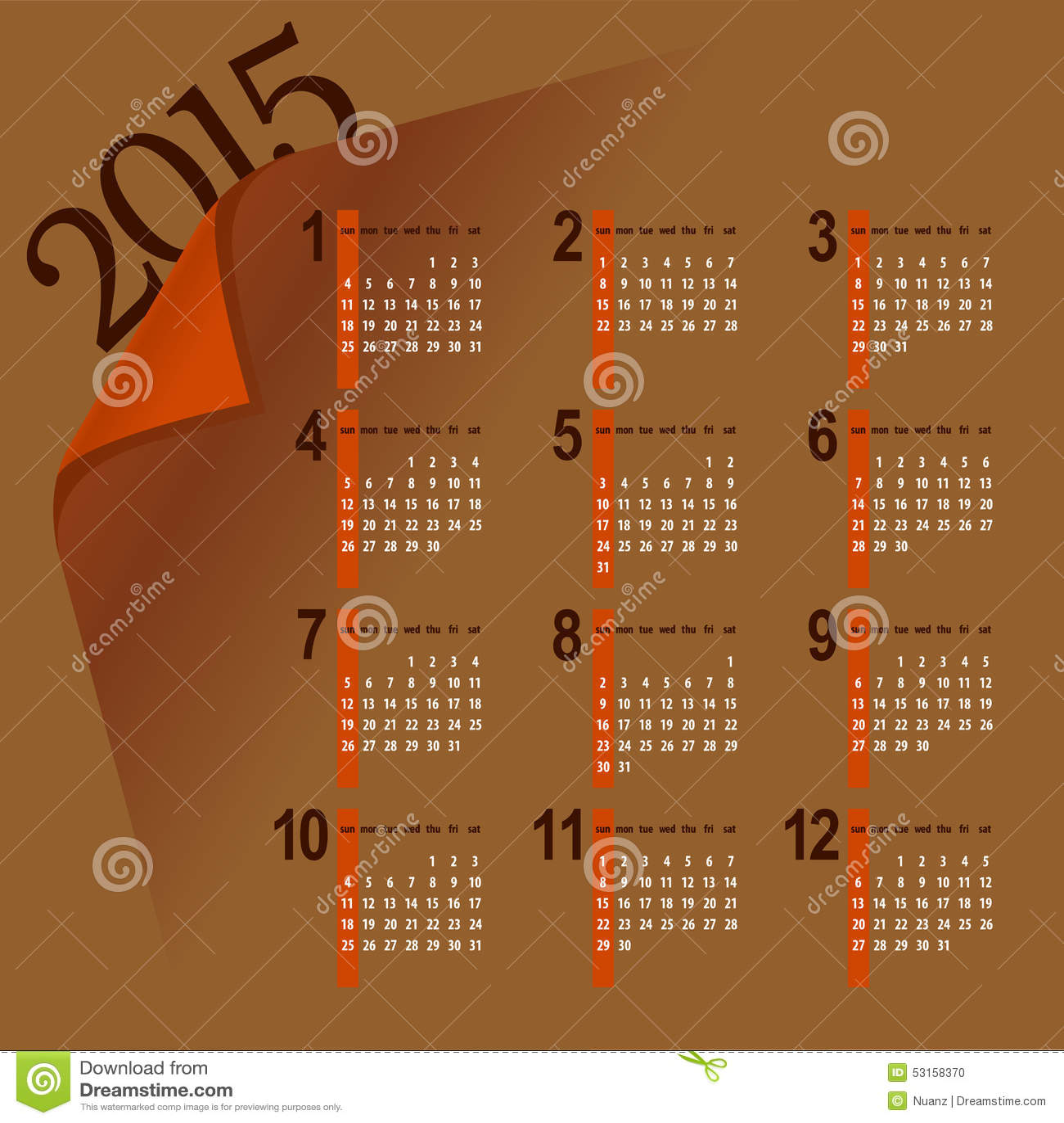 Minimalistic Calendar Design : Minimalistic calendar stock vector image