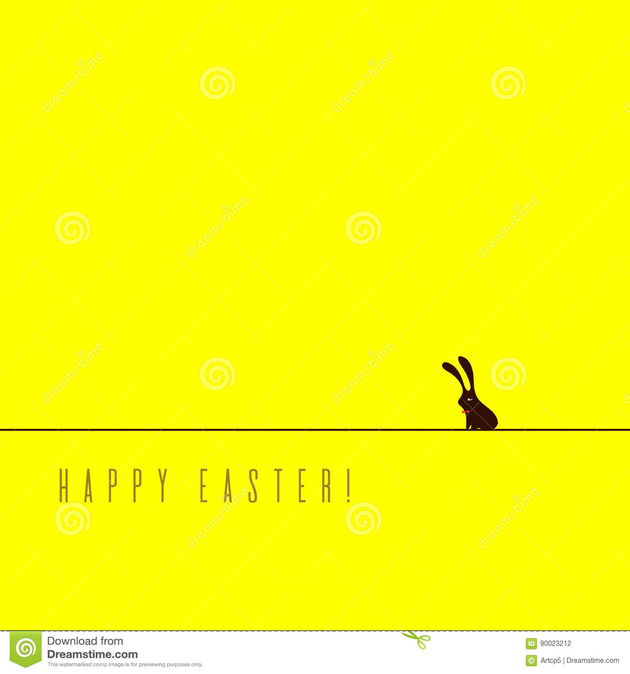 Minimalistic Easter card