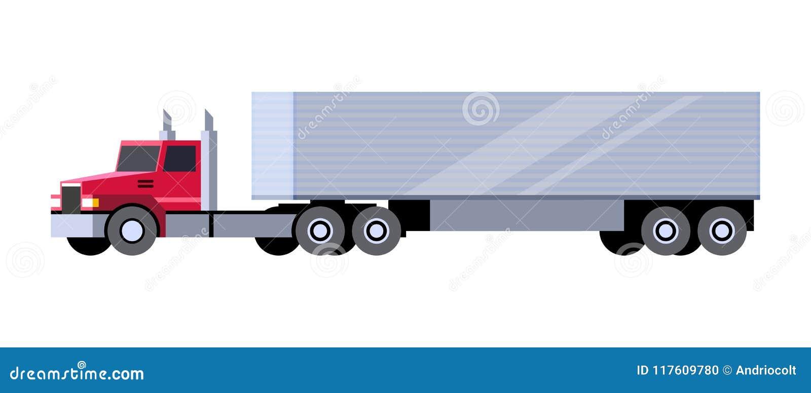 Box trailer truck