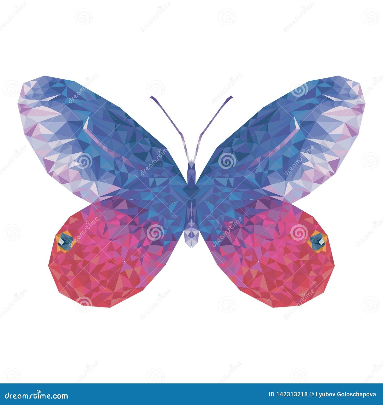 Minimalistic motyl w niskim poli- stylu