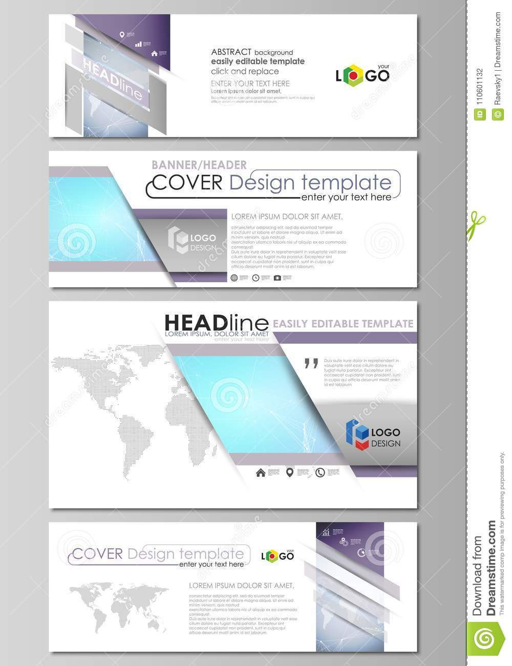 The minimalistic vector illustration of editable layout of social media, email headers, banner design templates in