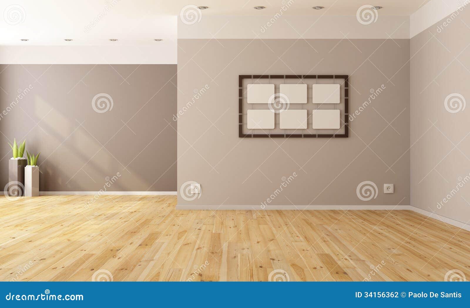 Minimalisty pusty wnętrze