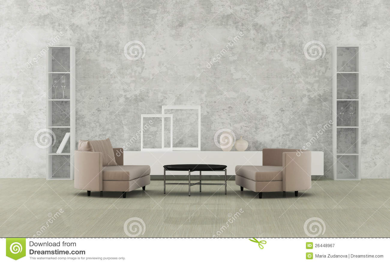 Minimalistyczny żywy pokój