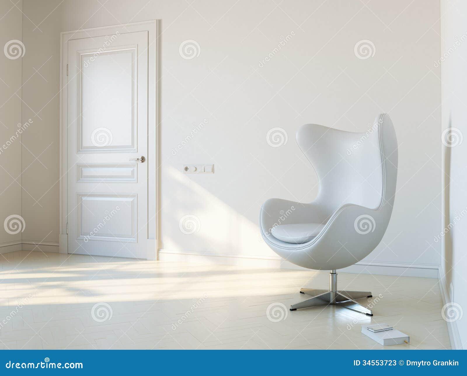 Minimalistyczny Biały Wewnętrzny pokój Z Luksusowego karła 2d wersją