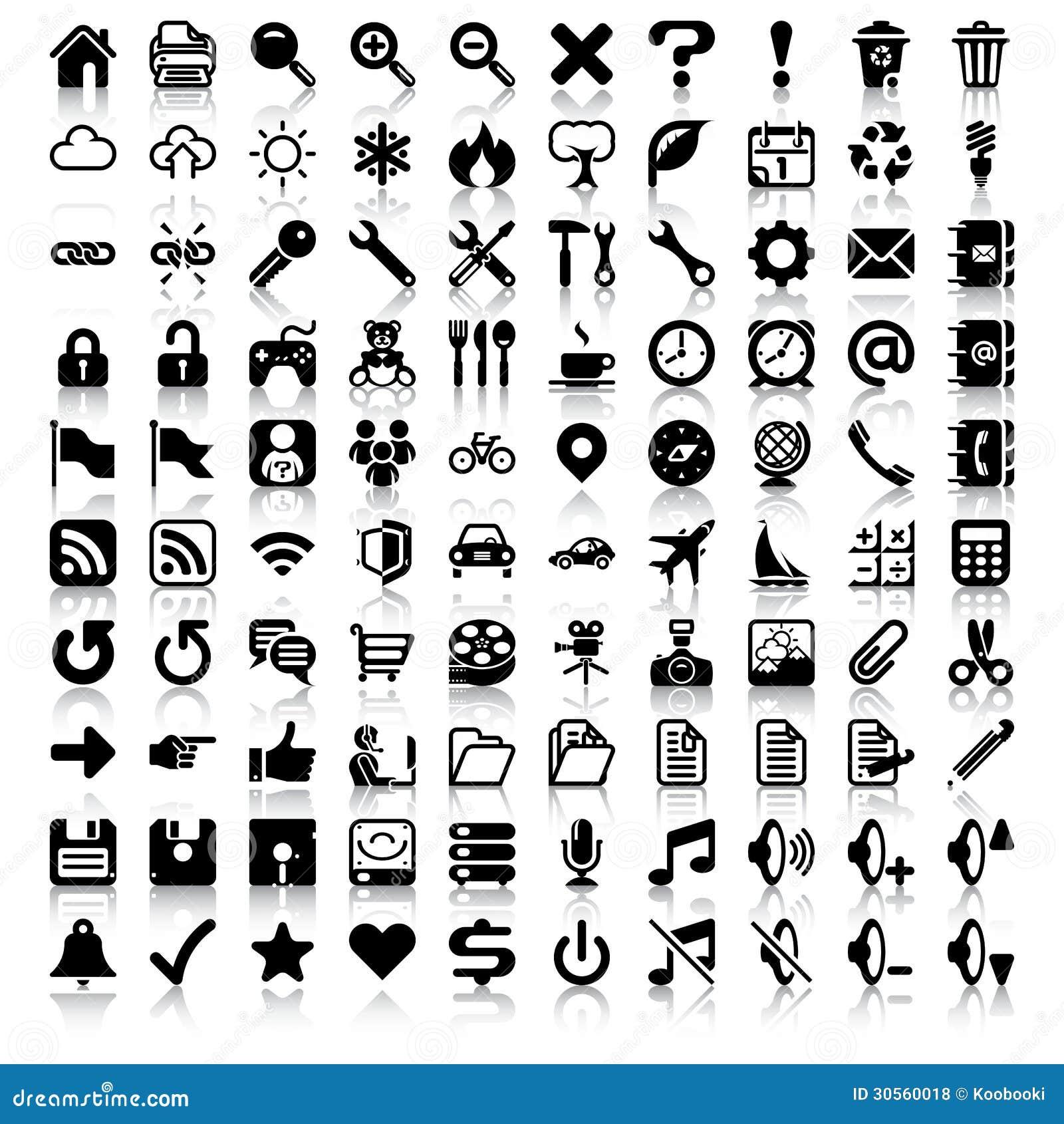Minimalistyczny ikona set