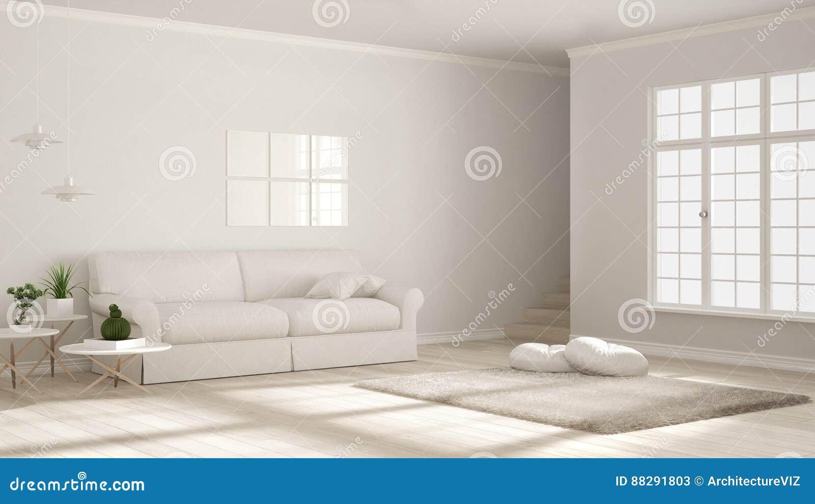 Minimalistyczny prosty jasny utrzymanie, monochromatyczny biel, scandinavian c