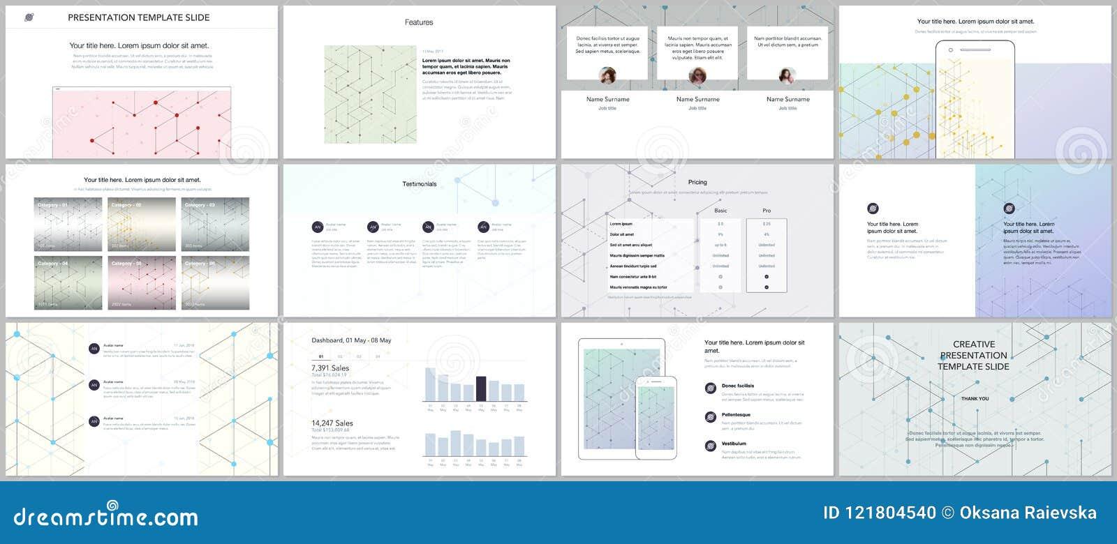 Minimalne prezentacje, portfolio szablony Prezentacja ono ślizga się dla ulotki, broszurka, raport Kreskowej sztuki wzór z