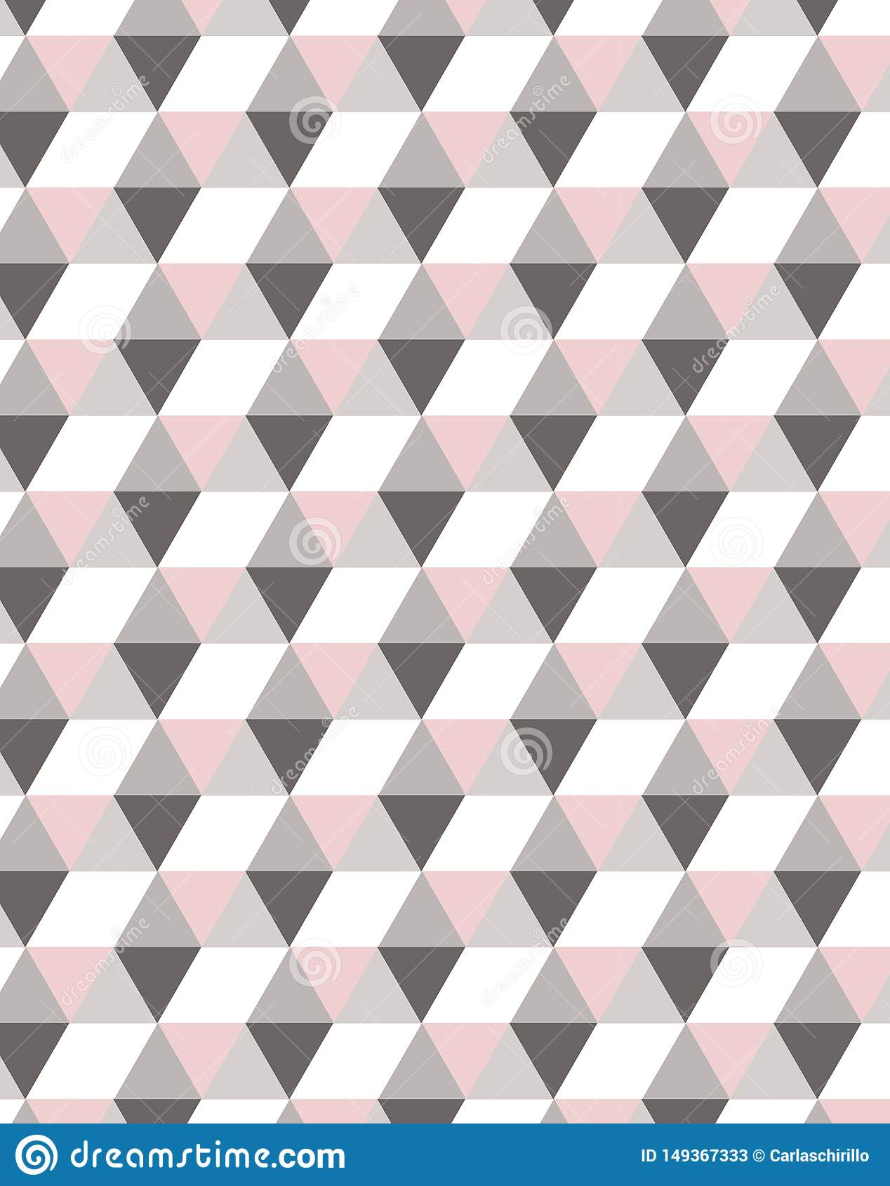 Minimalny geometryczny semless wz?r w pastelowych menchiach tonuje, idea? dla tkaniny deign
