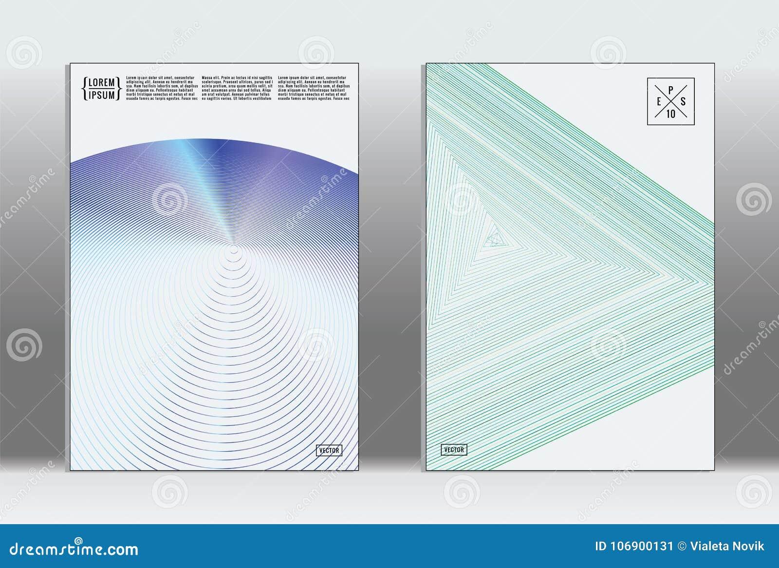 Minimalny plakat Wektorowa geometryczna pokrywa