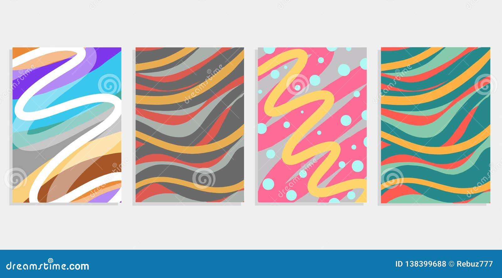 Minimalny ustalony abstrakcjonistyczny tło pokryw projekt Kolorowi halftone gradienty Przyszłościowi geometryczni wzory Eps10 c w
