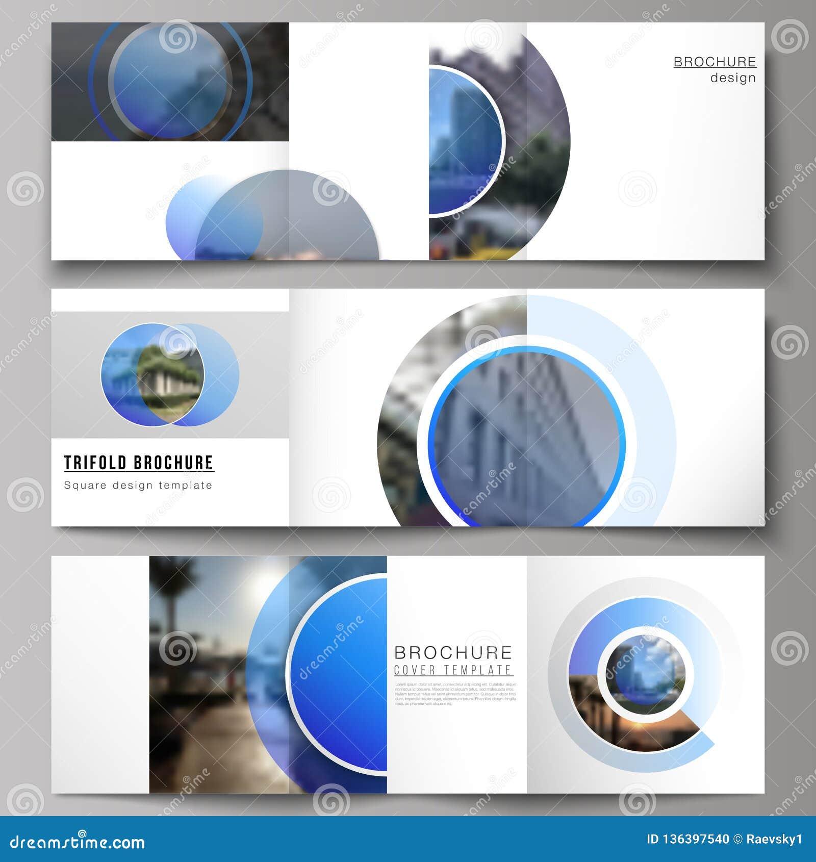 Minimalny wektorowy editable układ kwadratowe format pokrywy projektuje szablony dla trifold broszurki, ulotka, magazyn