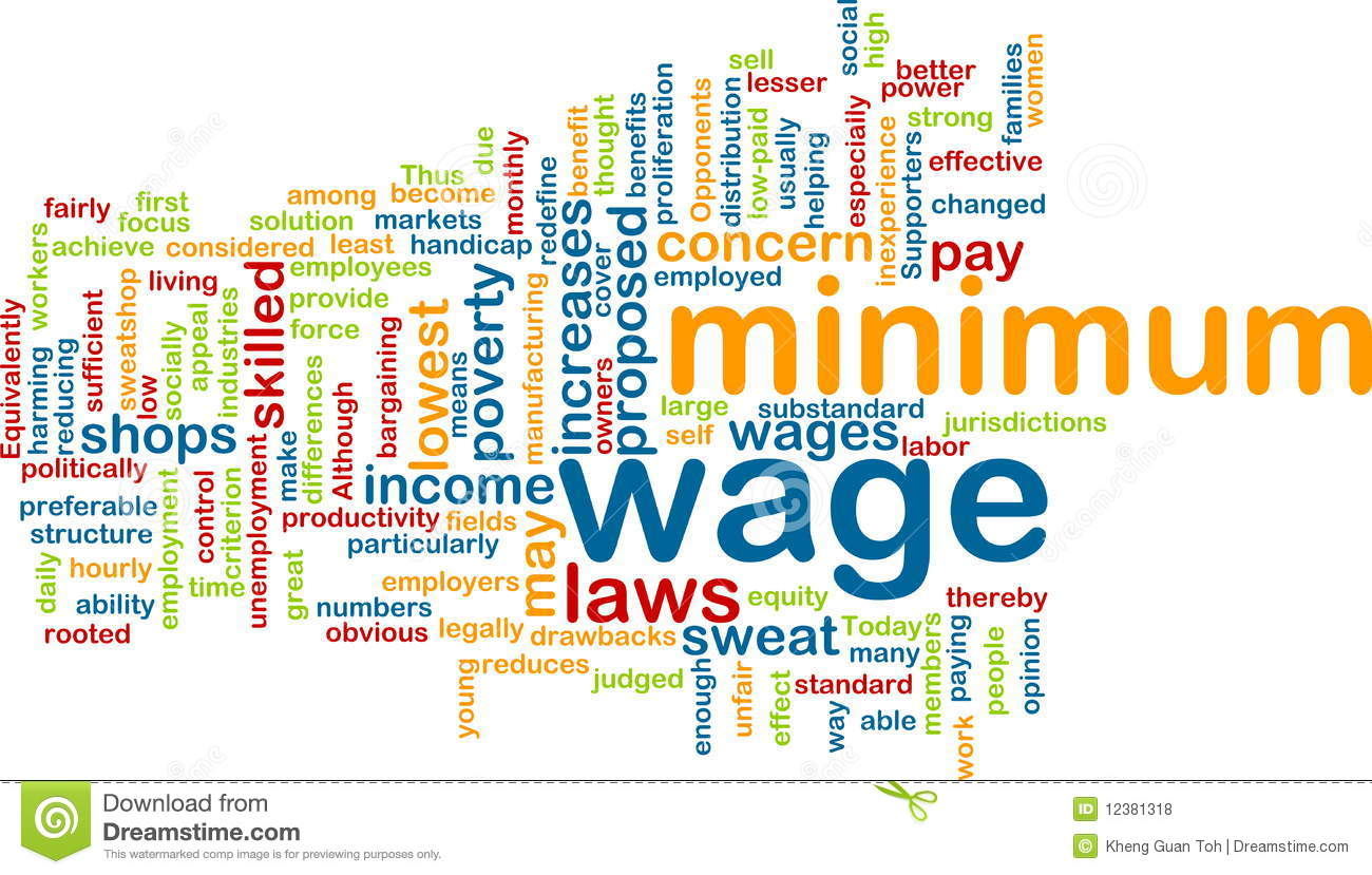 Minimum Wage Word Cloud Royalty Free Stock Photos Image