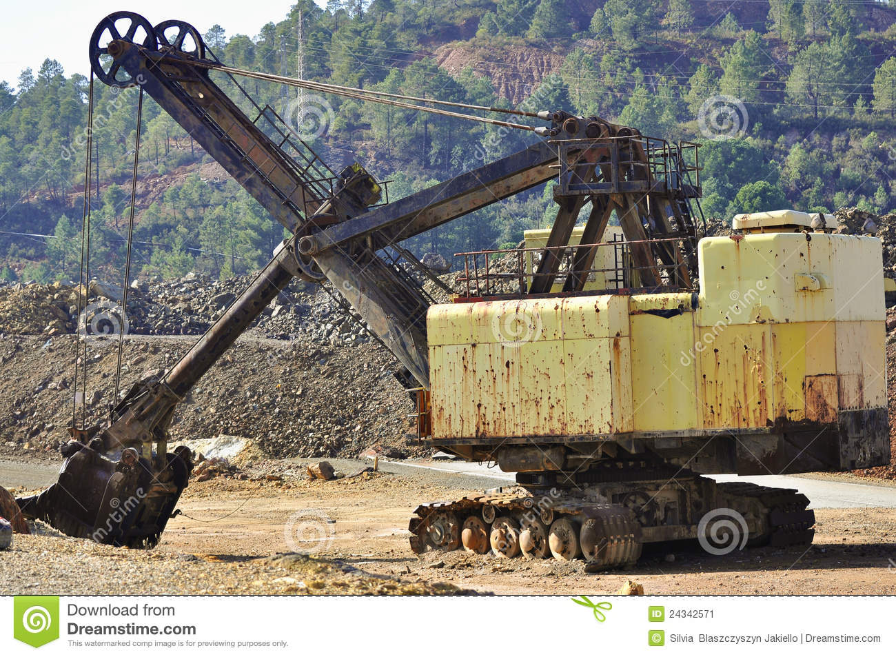 Mining Big Machines Backhoe - Riotinto Stock Image - Image: 24342571
