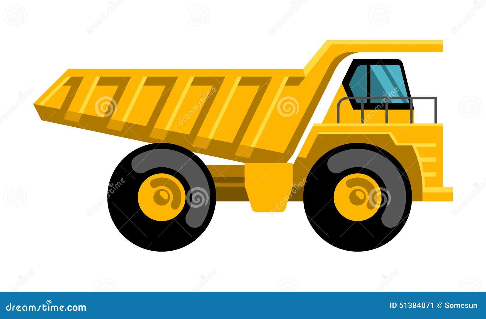 mining dump truck flat design vector icon stock vector dump truck clipart design svg dump truck clipart silhouette