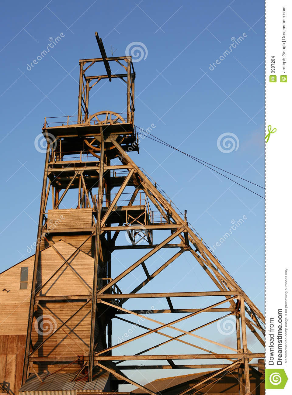 Mining Headframe Stock Photo Image Of Retro Wheel Frame
