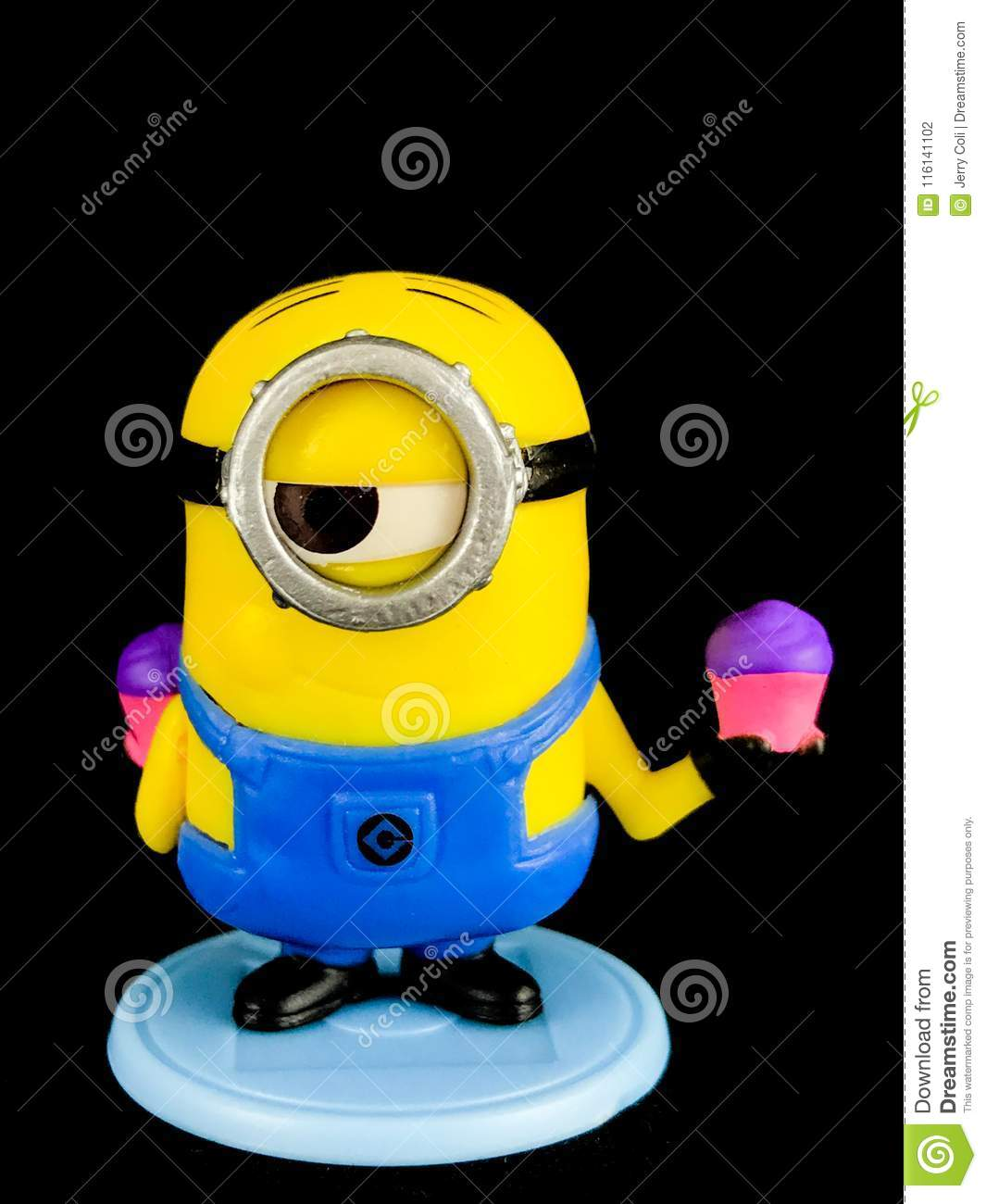 A Minion From Despicable Me Franchise Editorial Photography Image