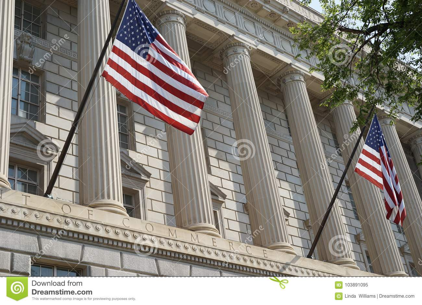 Ministère des finances des Etats-Unis la façade