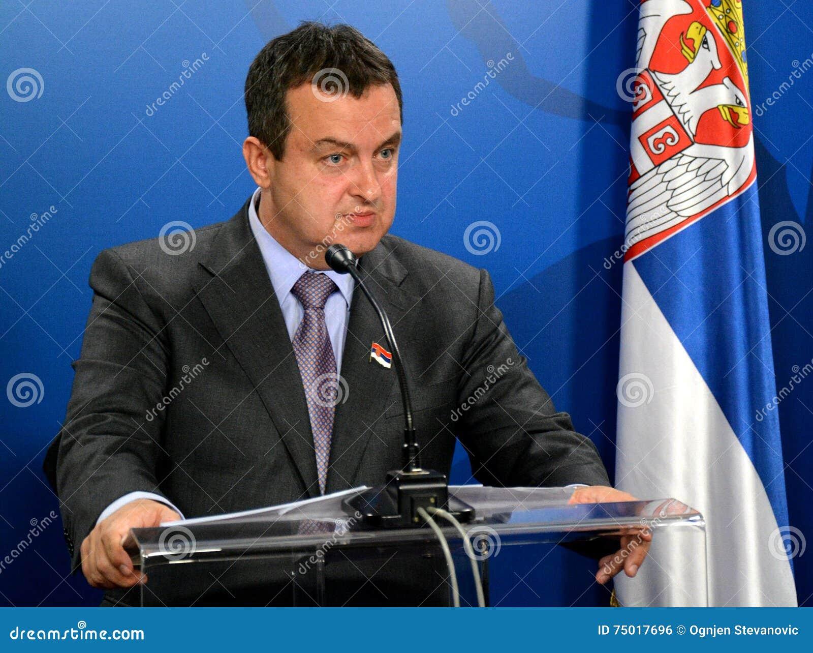 Minister av utländskt - angelägenheter av republiken av Serbien Ivica Dacic