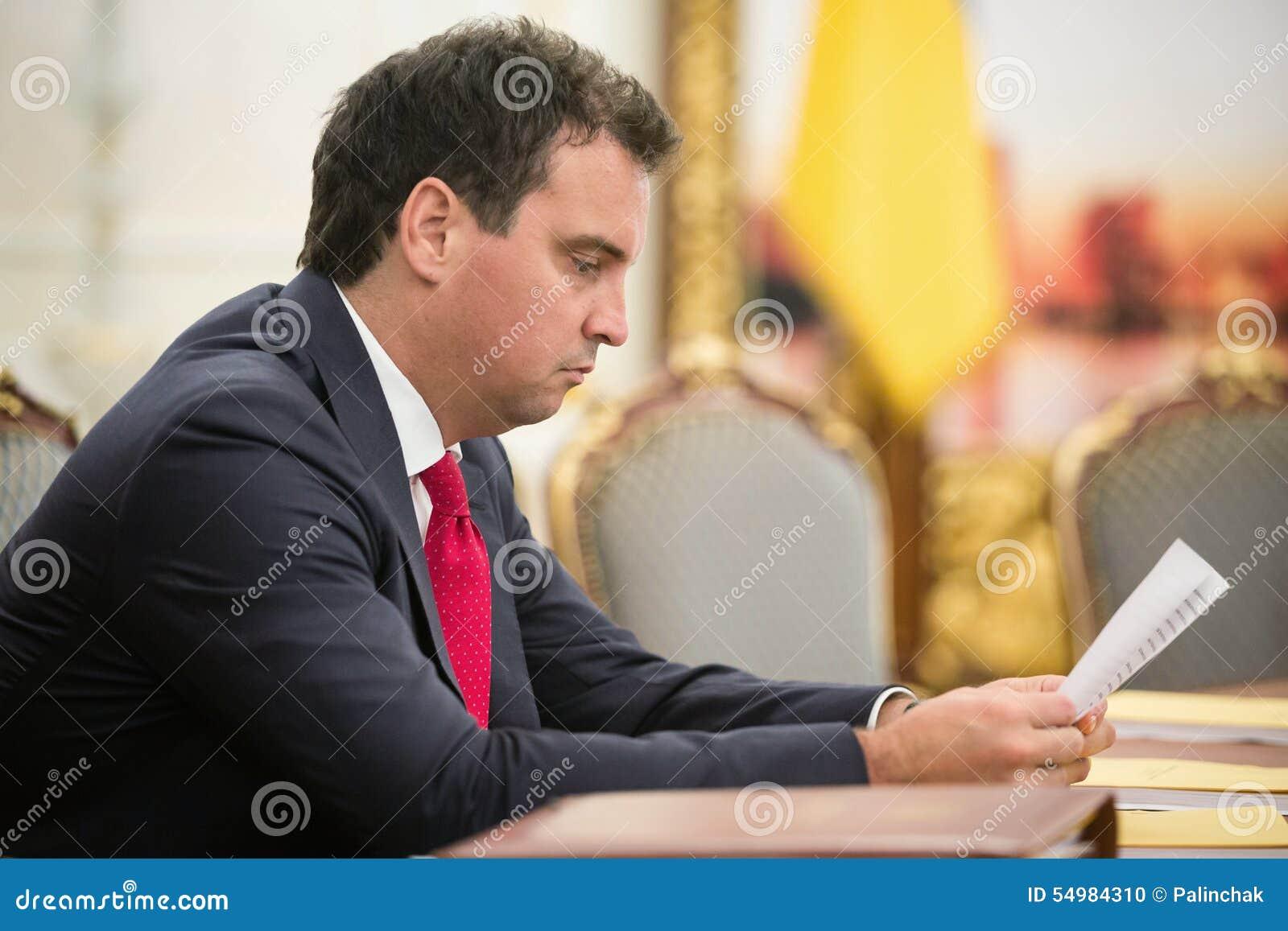Minister van Economische Ontwikkeling en Handel van de Oekraïne Aivaras Ab