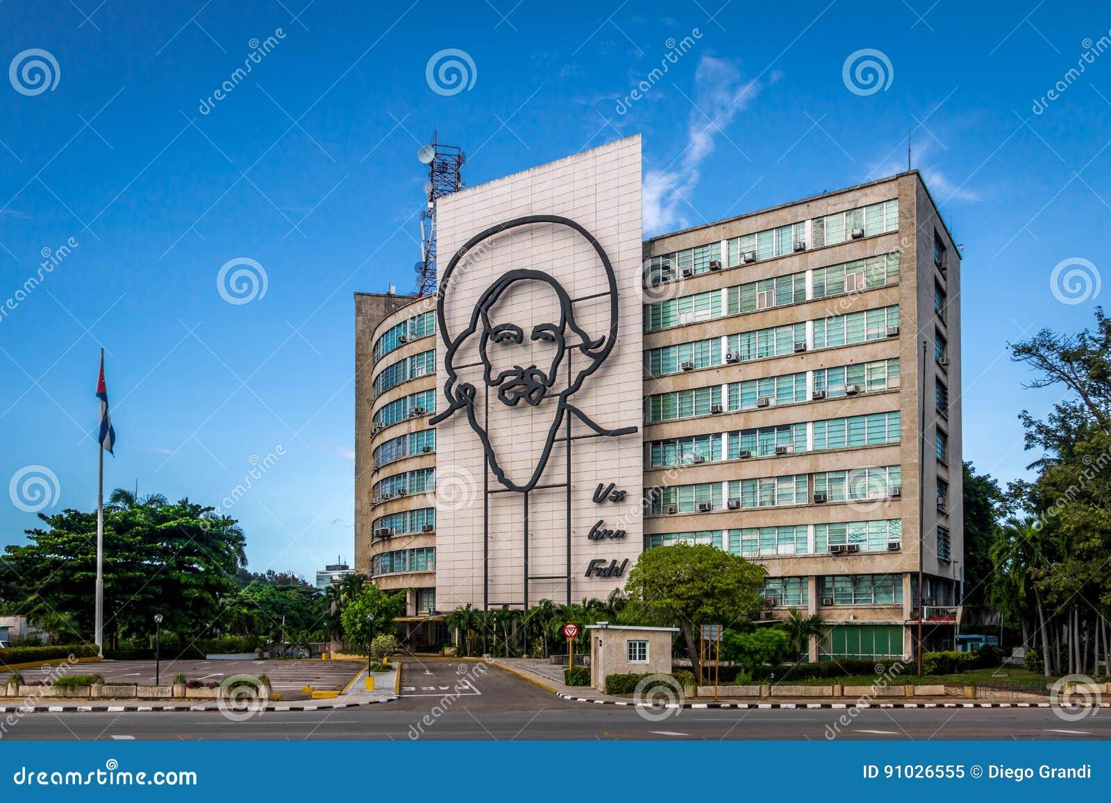 Ministerie van Mededelingen in het Plein DE La Revolucion - Havana, Cuba